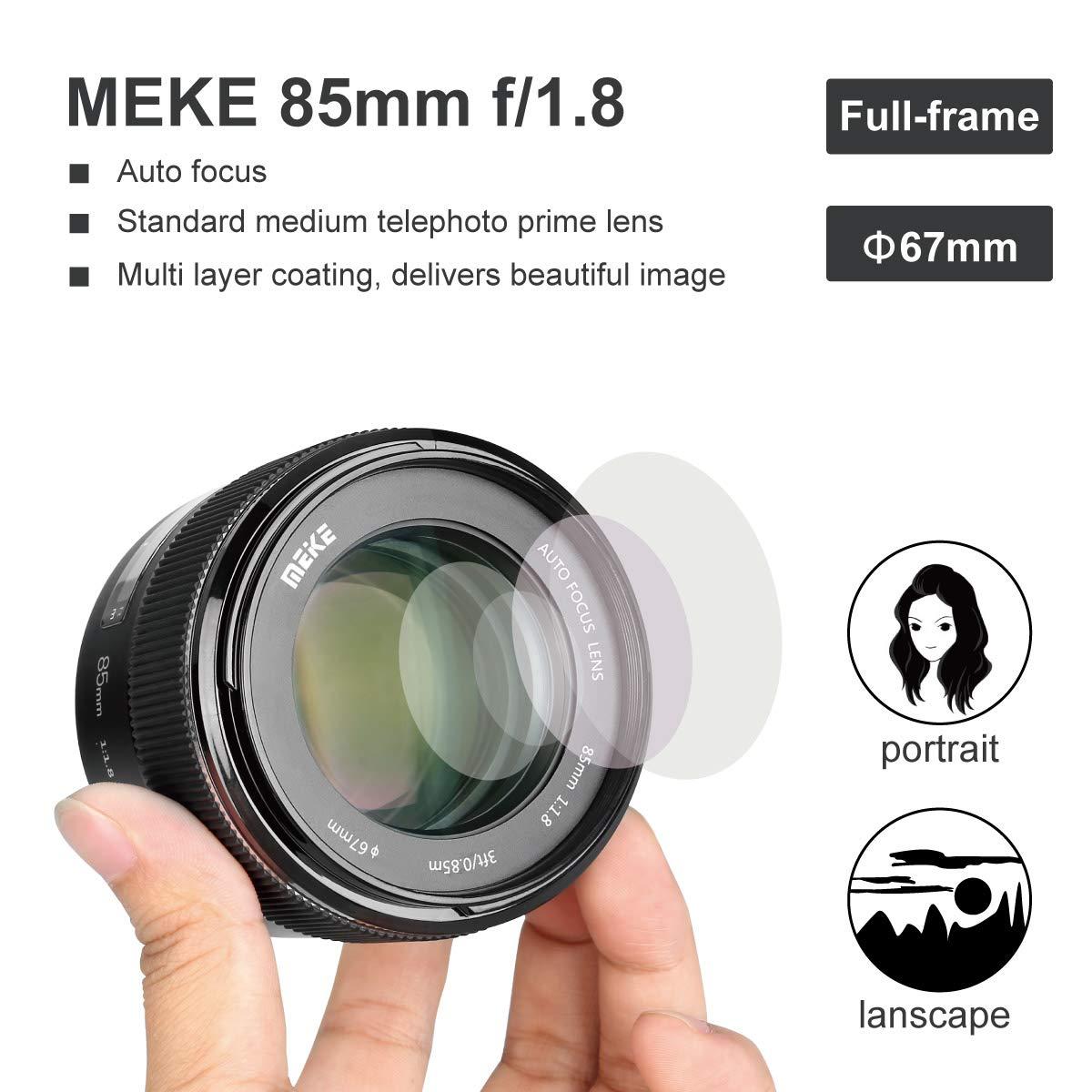 Ống kính Meike AF 85mm f1.8 Full- Frame for Canon - Hàng Nhập Khẩu