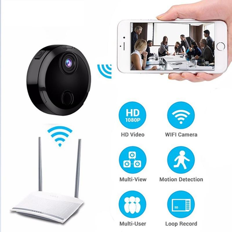 Camera Mini Wifi HDQ15 Hồng Ngoại Kết Nối Không Dây Với Điện Thoại
