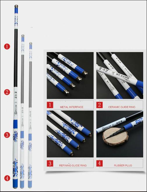Cần tay 3m6 carbon chất liệu siêu cứng - Kèm nhiều phụ kiện DCC05