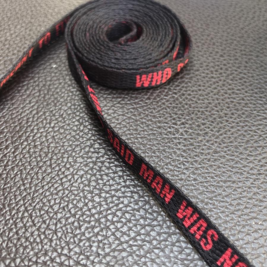 Dây giày Jor dan màu đen chữ dành cho giày 6-12 lỗ, giày cổ cao