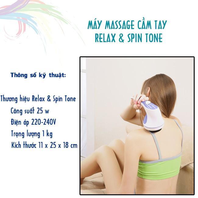Máy massage bụng cầm tay Relax & Spin Tone - Hàng chuẩn, giá rẻ, thư giãn và giảm mỡ hiệu quả