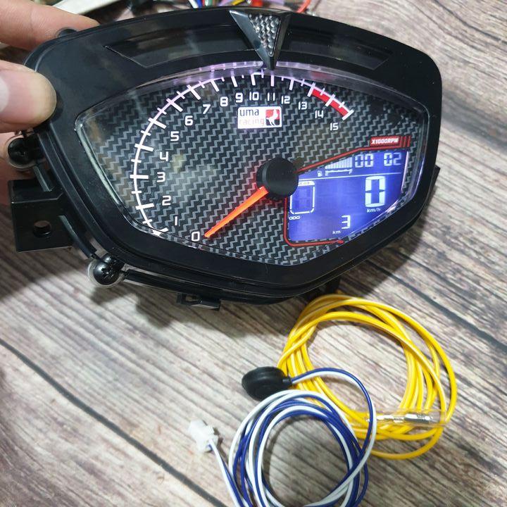 Đồng hồ điện tử cho xe Sirius - Exciter full Chức Năng Báo Tua Máy, Báo Xăng