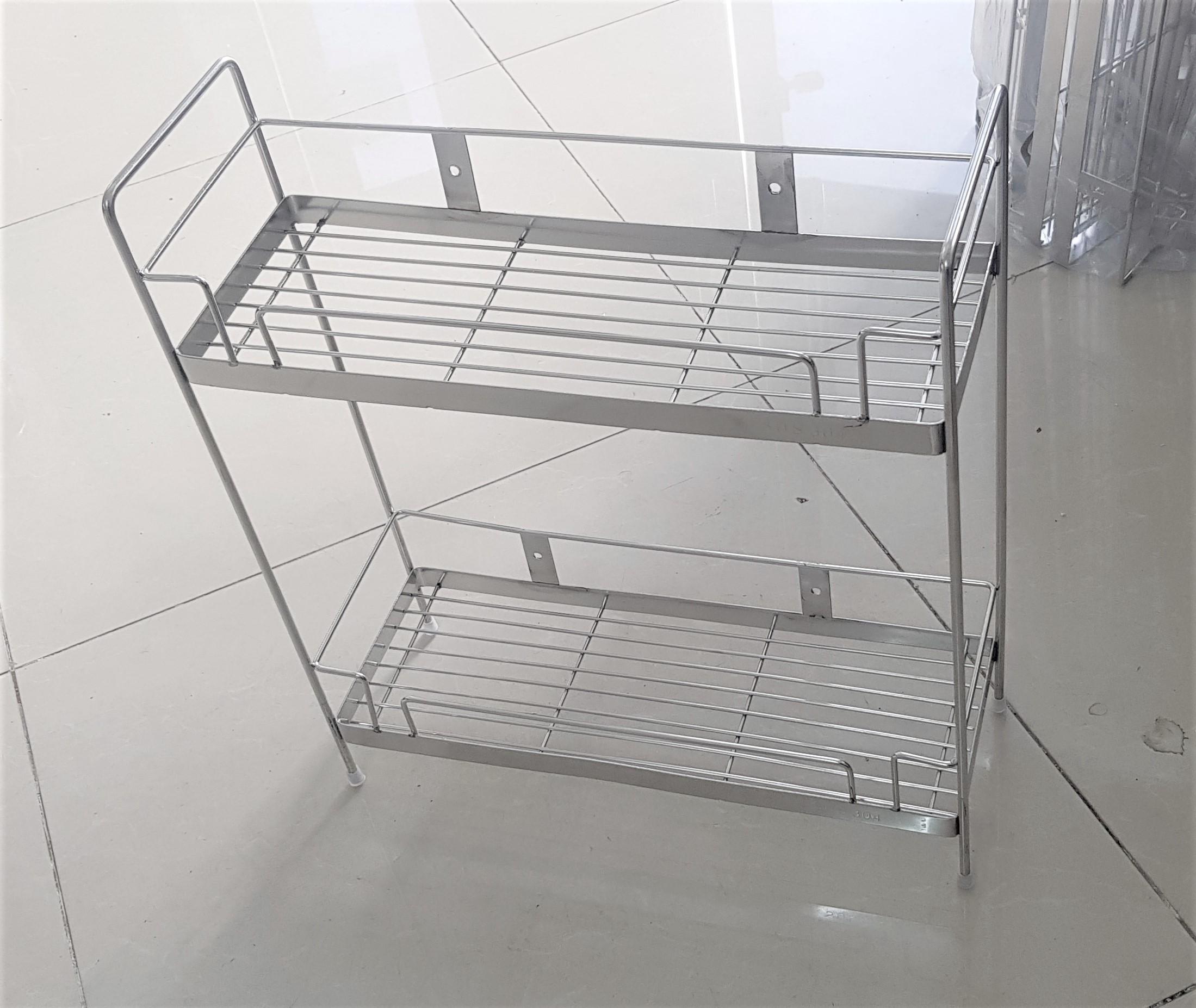 Kệ gia vị 2 tầng đứng - INOX 304 - 14 x 40cm