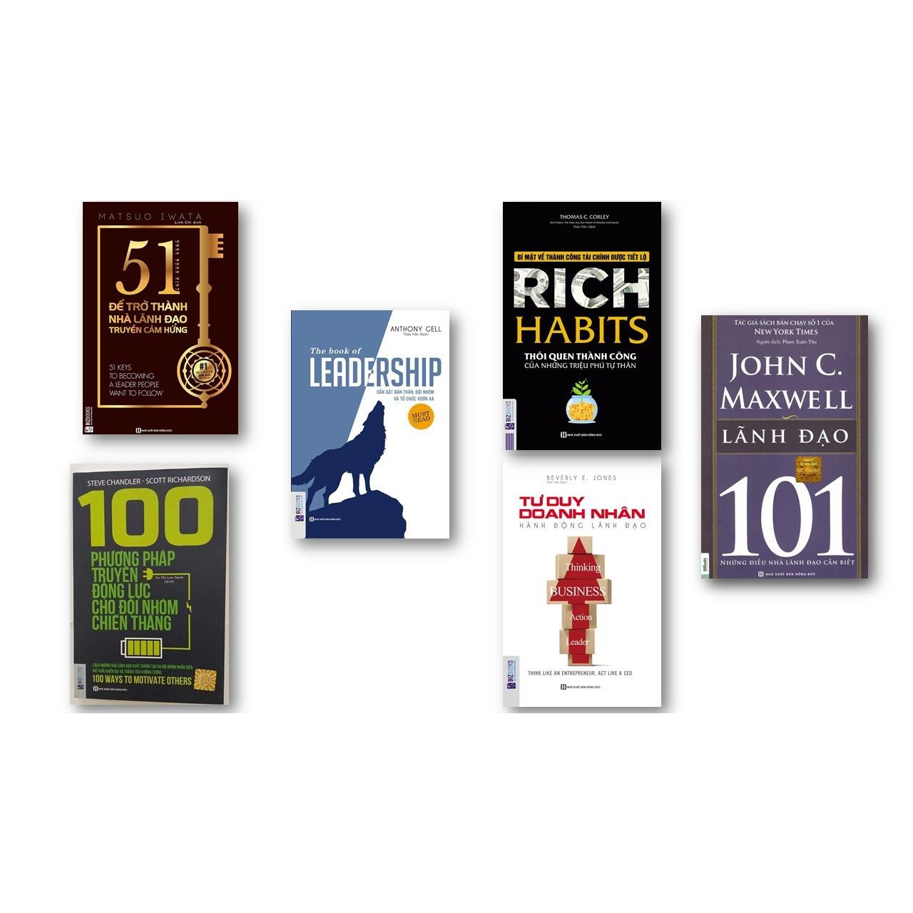 Combo Chìa Khóa Vàng Cho Những Nhà Lãnh Đạo Thành Công ( 100 phương pháp truyền động lục cho đội nhóm chiến thắng + Rich Habits thói quen thành công của những triệu phú tự thân + Tư duy doanh nhân hành động lãnh đạo + 51 chìa khóa vàng để trở trành nhà lãnh đạo truyền cảm hứng + Leadership dẫn dắt bản thân đội nhóm và tổ chức vươn xa ) ( tặng kèm  Lãnh đạo 101 – Leadership 101 + bút chì dễ thương )