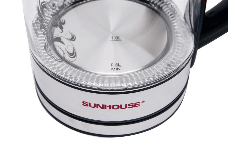 Ấm siêu tốc thủy tinh Sunhouse SHD1217 - Trắng - Hàng chính hãng