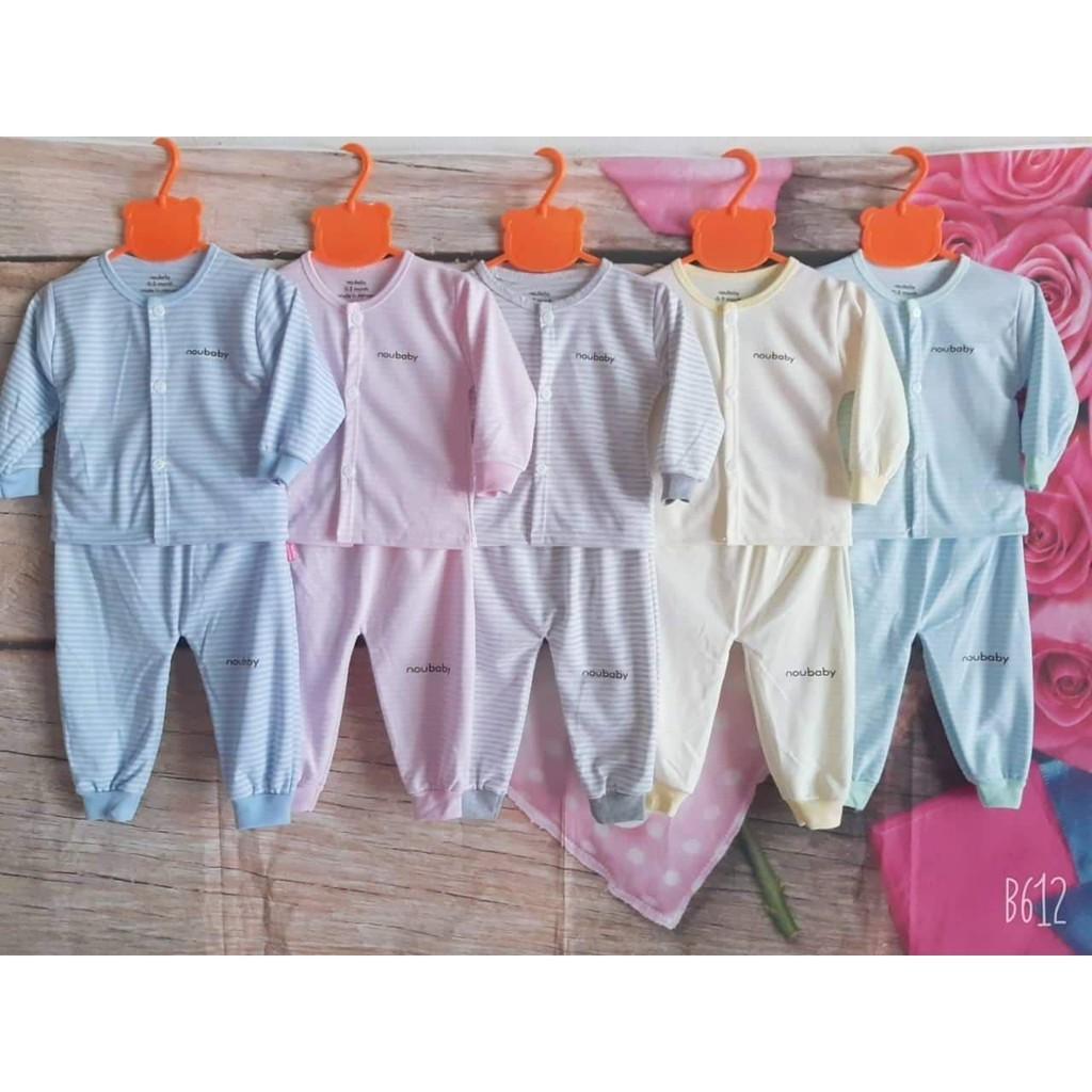 Bộ quần áo dài tay (mẫu ngẫu nhiên) noubaby cho bé từ 0-15 tháng tuổi