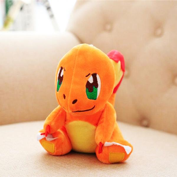 Gấu bông pokemon charmander - Khủng long lửa ngồi (25 cm) gb71 (Màu Cam)
