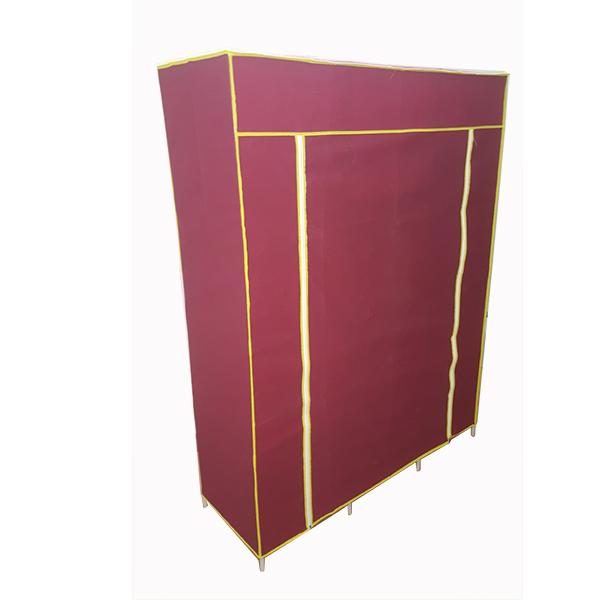 Vỏ( áo chụp ngoài) tủ vải quần áo( kt: dài x rộng x sâu: 160cmx120cmx42cm) loại 3 buồng, 8 ngăn bằng vải không dệt