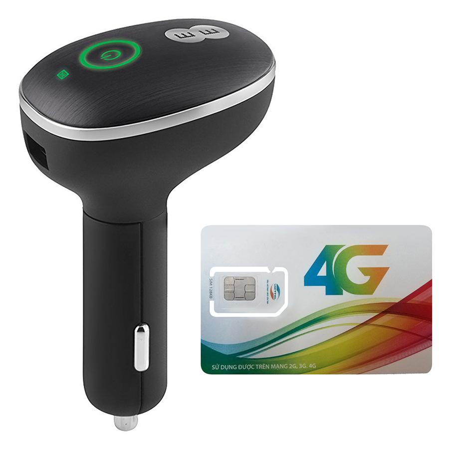 Bộ Phát Wifi 4G Cho Xe Ô Tô Huawei E8377 150Mbps + Sim Viettel 3G/4G 3GB / Ngày - Hàng Chính Hãng