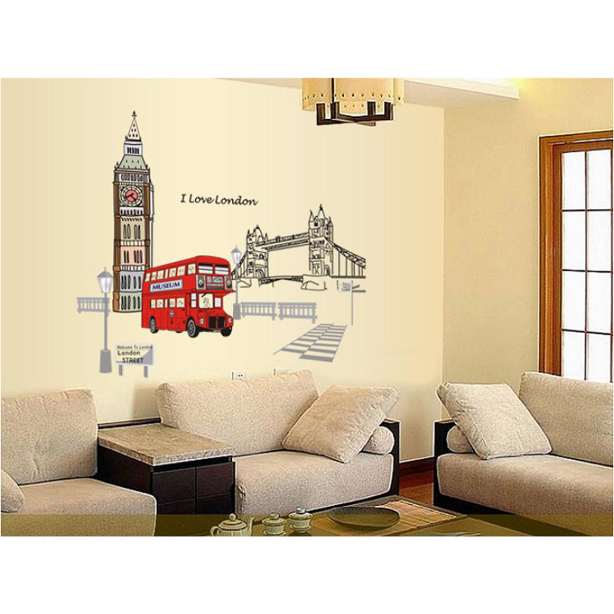 decal dán tường xe bus london cc6911