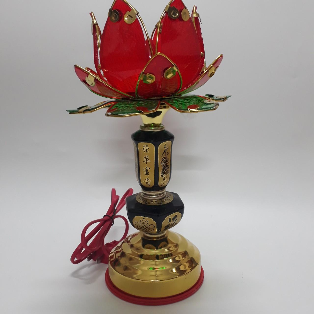 Cặp đèn thờ 1 bông thắp điện