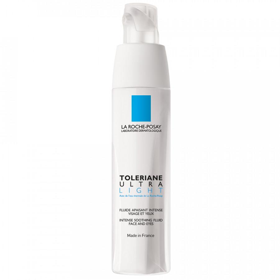 Kem dưỡng làm dịu tức thì  bảo vệ cho da khô rất nhạy cảm  kích ứng La Roche-Posay Toleriane Ultra Light (40ml)