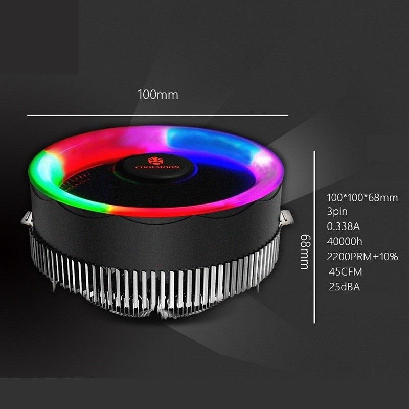 Quạt CPU Led Coolmoon - Hàng Chính Hãng