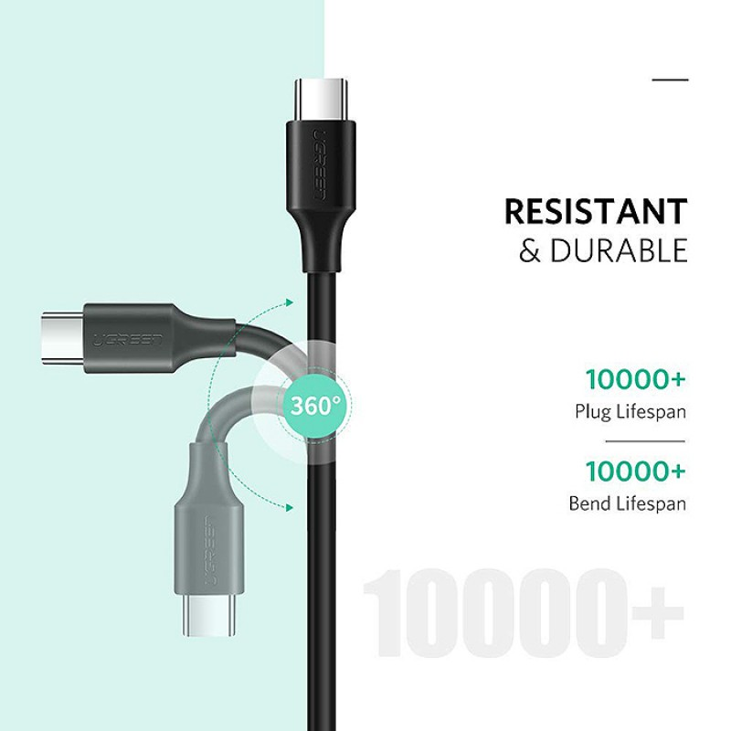 Cáp USB Type-c To Type-c 1.5M Ugreen 50998 - Dây 2 Đầu Type-c Hàng Chính Hãng