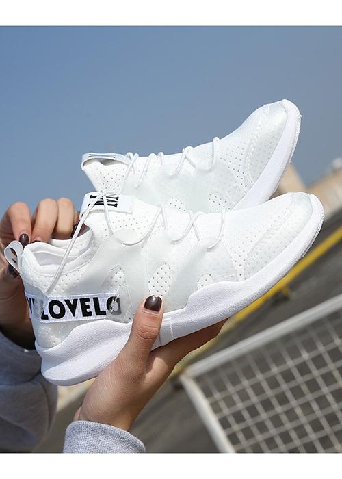 Giày Sneakers Nữ Hàng Mới Hot Hit N022 trắng