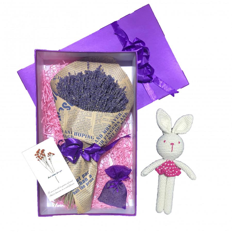 Set quà hoa lavender khô Pháp - Mẫu 32 (hồng)