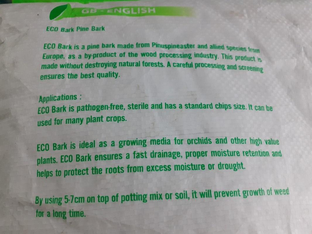 Vỏ Thông Cao Cấp Eco Bark, cỡ 9-12mm, Nhập khẩu BỒ ĐÀO NHA, bao 40 lít
