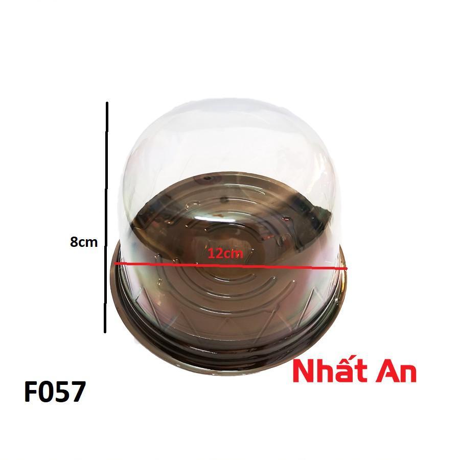 Hộp nhựa tròn đế đen F057(9cm) 50 cái