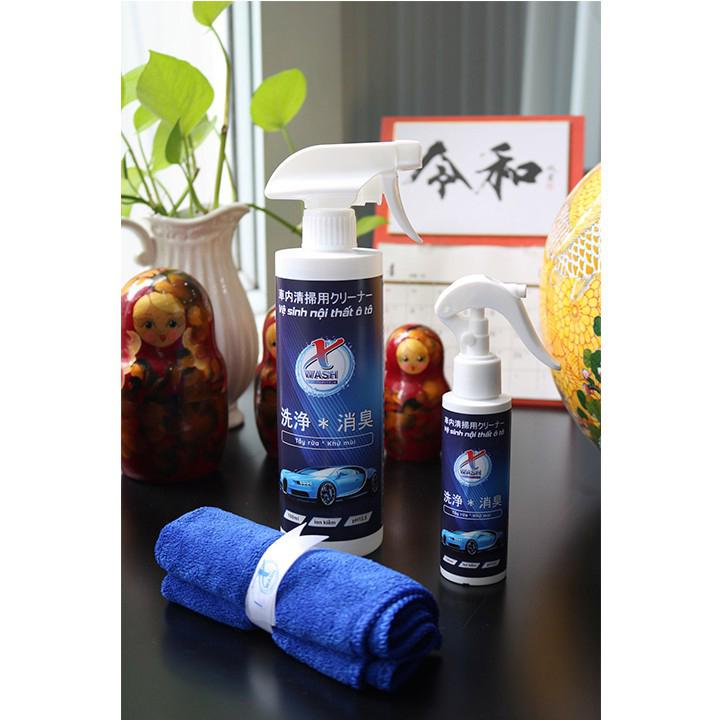 Xwash For Car - Vệ sinh không hóa chất - Bảo vệ nội thất ô tô - Không gây mùi độc hại