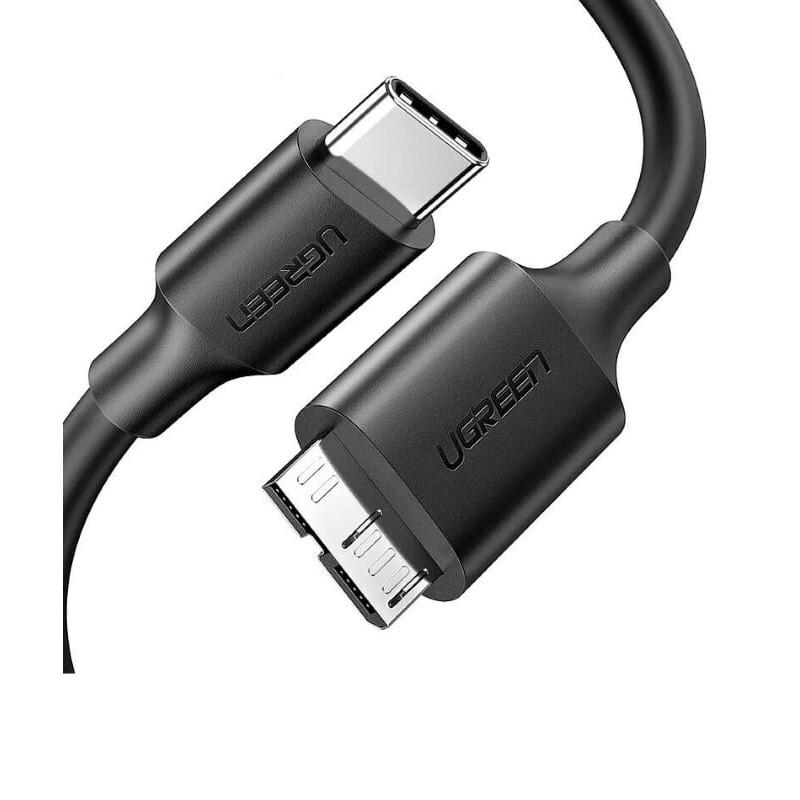 Cáp Micro USB 3.0 sang Type C cao cấp 1M màu Đen Ugreen UC20103US312 Hàng chính hãng