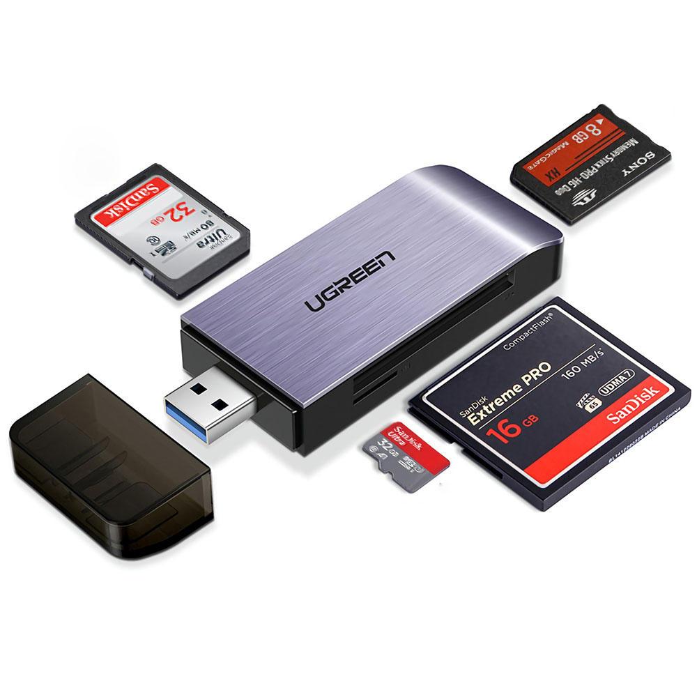 Đầu Đọc Thẻ Nhớ Đa Năng Chuẩn USB 3.0 Ugreen 50541 - SD/TF/CF/MS - Hàng Chính Hãng