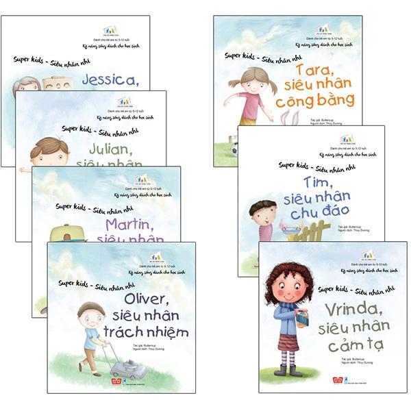 Bộ Kỹ Năng Sống Dành Cho Học Sinh - Super Kids - Siêu Nhân Nhí (7 Tập Sau)