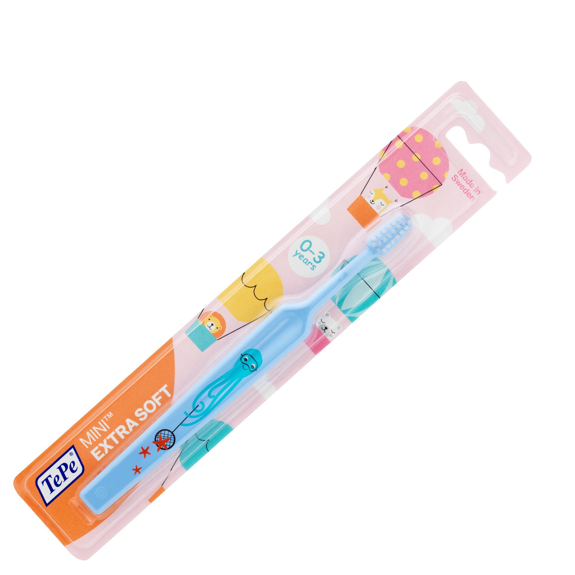 Bàn chải đánh răng siêu mềm cho trẻ 0-3 tuổi Tepe Mini X-soft nhiều màu