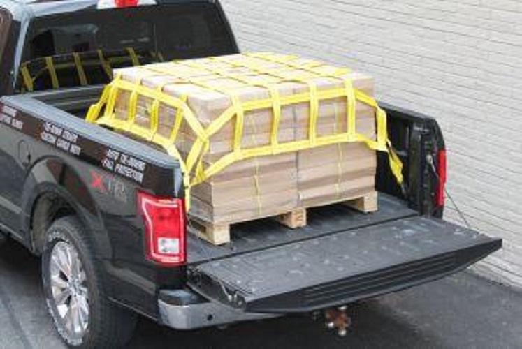 Lưới bẹ trùm hàng thùng xe bán tải 150X140 ô 10cm