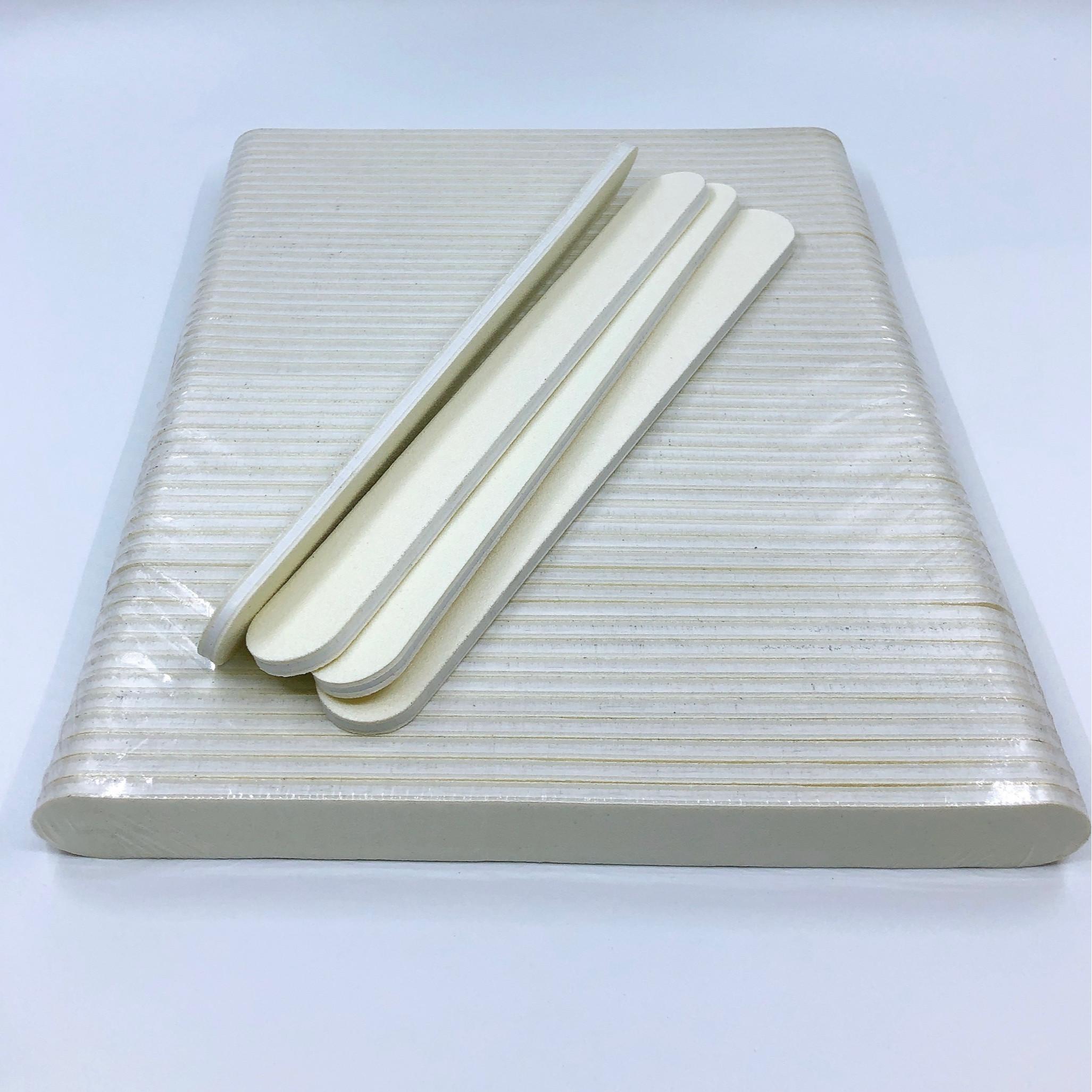 Set 8 dũa móng tay trắng - độ nhám 100/100