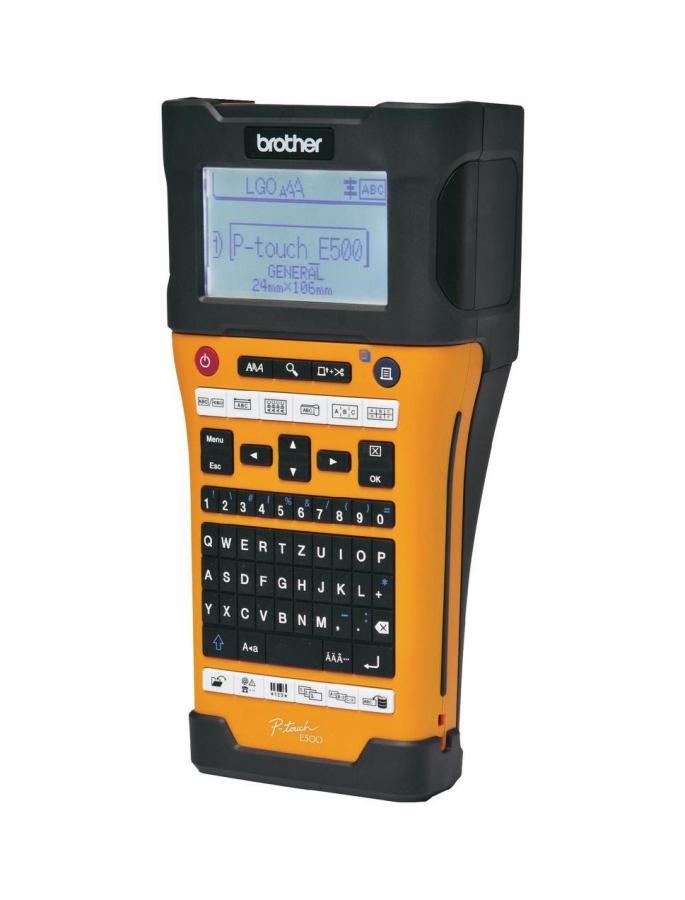 Máy in nhãn cầm tay Brother PT-E500VP, in nhãn dán cáp, dây, thi công điện-mạng-viễn thông - Hàng Chính Hãng
