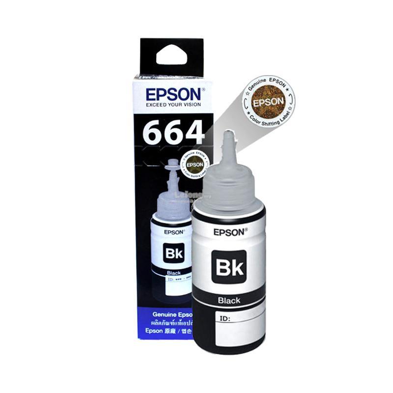 Mực in Epson T6641 Black Ink Bottle (C13T664100) - Hàng Chính Hãng