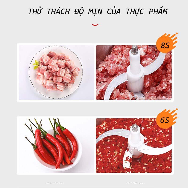 Máy xay thịt đa năng hai tốc độ cối thủy tinh dao inox lập thể Supor JRD01-300 - HÀNG CHÍNH HÃNG