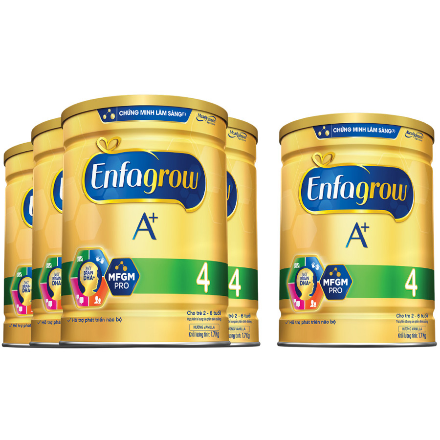 Combo 4 Lon Sữa Bột Enfagrow A+ 4 1.7kg - Tặng Lon Sữa Bột Enfagrow A+ 4 1.7kg