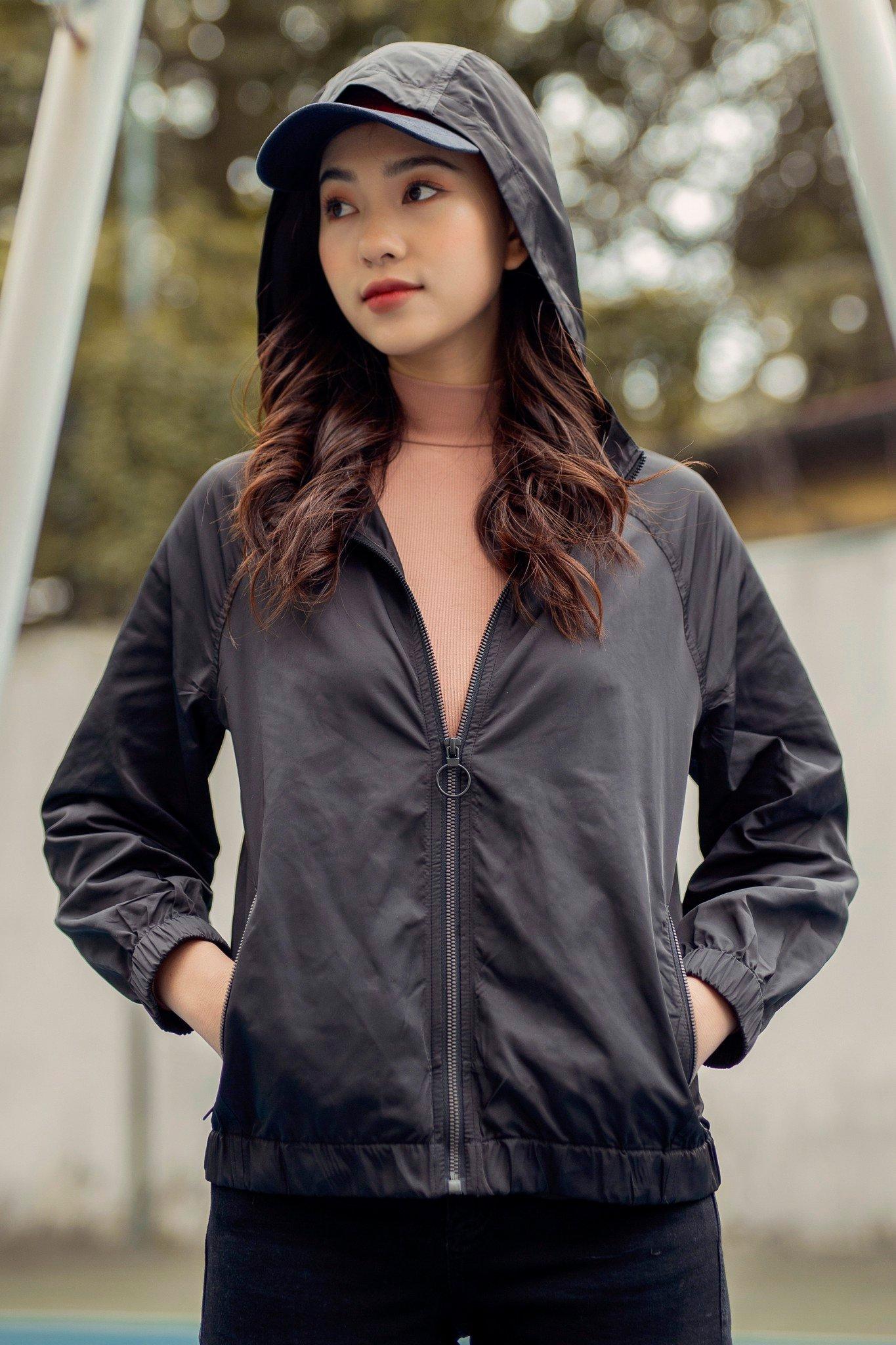 Áo khoác Jacket gió đen basic 0JA1008 ADORE DRESS