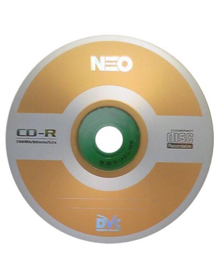Đĩa CD Trắng Neo - Combo 10 Đĩa Kèm Vỏ - Hàng nhập khẩu