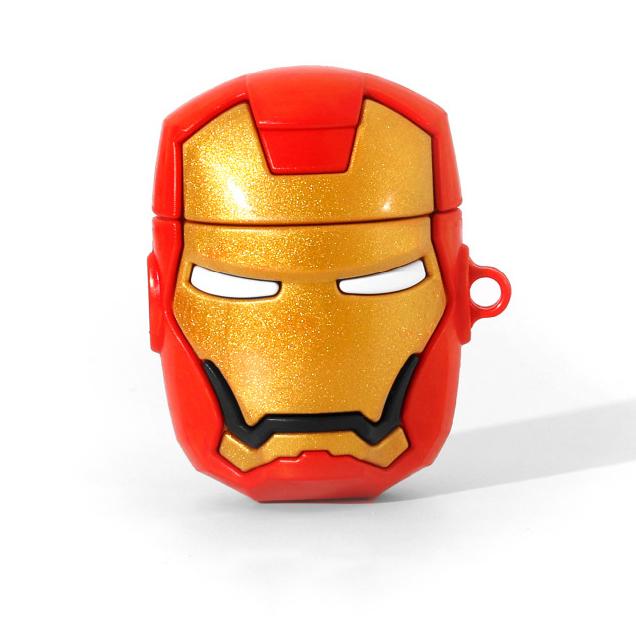 Bao Case Ốp Bảo vệ Cho Airpods 1/ Airpods 2 Hình mặt nạ IRON MAN