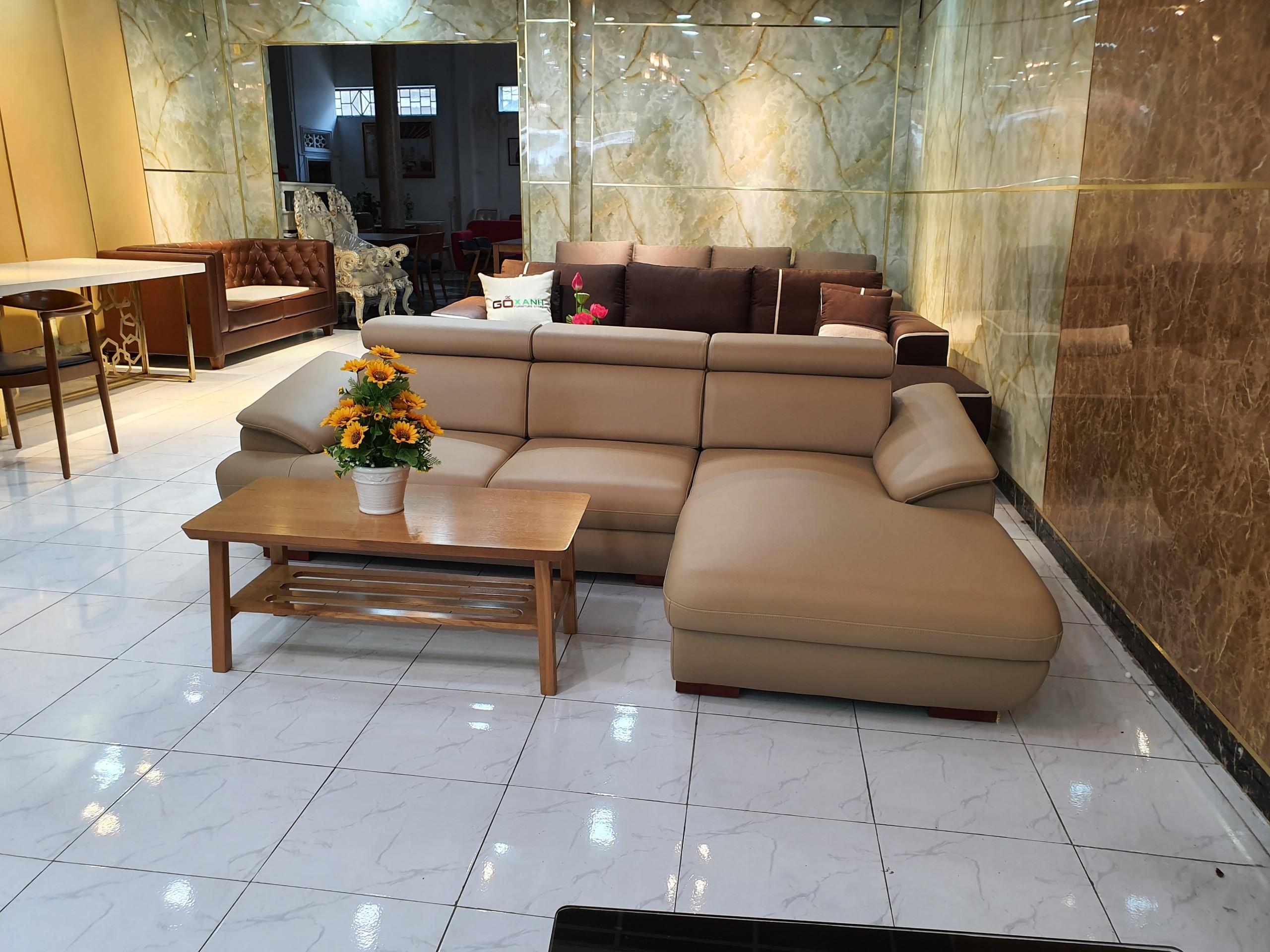Bộ Ghế Sofa Góc Nhỏ Gọn Phù Hợp Không Gian Căn Hộ _Size 2m5 x 1m6