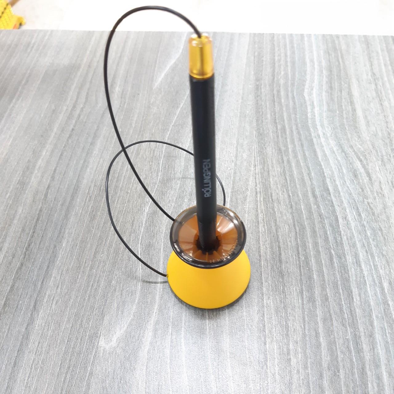 Combo 2 bộ bút bi cắm bàn Monami (mực đen) đế màu ngẫu nhiên