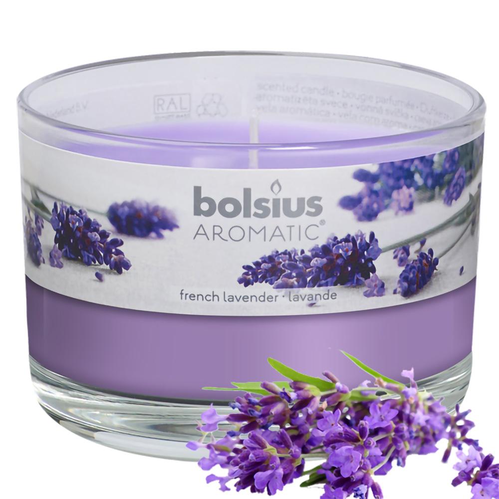 Ly nến thơm tinh dầu Bolsius French Lavender 155g QT024878 - hoa oải hương