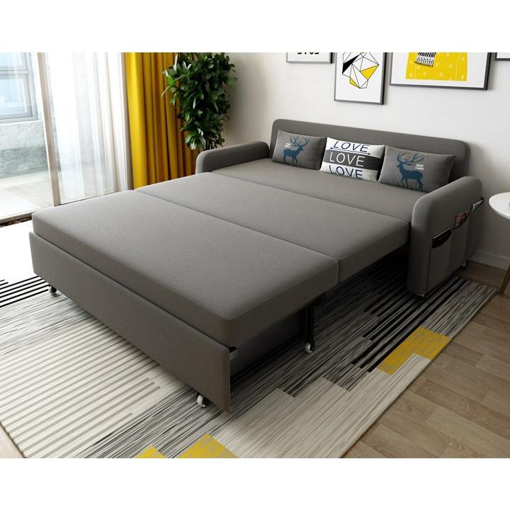 Giường Đa Năng Nệm Bọt Biển Tự Nhiên 1m91 x 1m60 Khung Thép Chịu Lực Kèm Ngăn Chứa Đồ Tiện Ích Giường Gấp Gọn Thành Ghế Sofa Giường Sofa Gấp Gọn