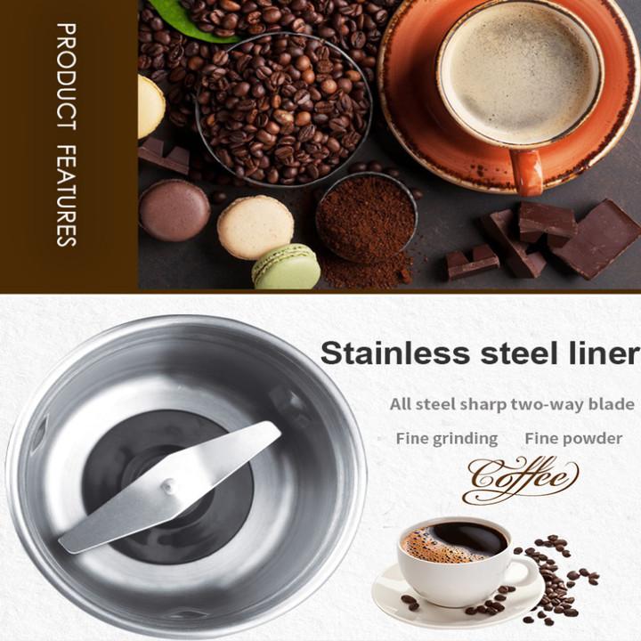 Máy xay cà phê và các loại hạt cao cấp thương hiệu DSP KA3036 - Công suất: 300W - Chất liệu: Thép không gỉ 304 - Hàng Nhập Khẩu