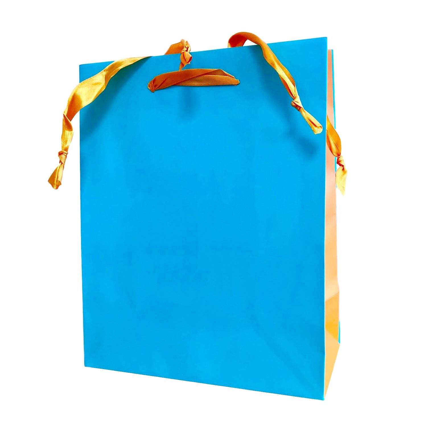 Túi giấy đựng mỹ phẩm quà tặng cao cấp (Màu xanh ngọc) 25x20x10cm set 30 cái