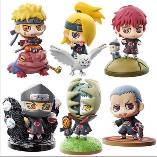 Bộ Combo 6 Mô Hình Naruto, Hidan, Zetsu, Deidara, Sasori, Kakuzu Chibi