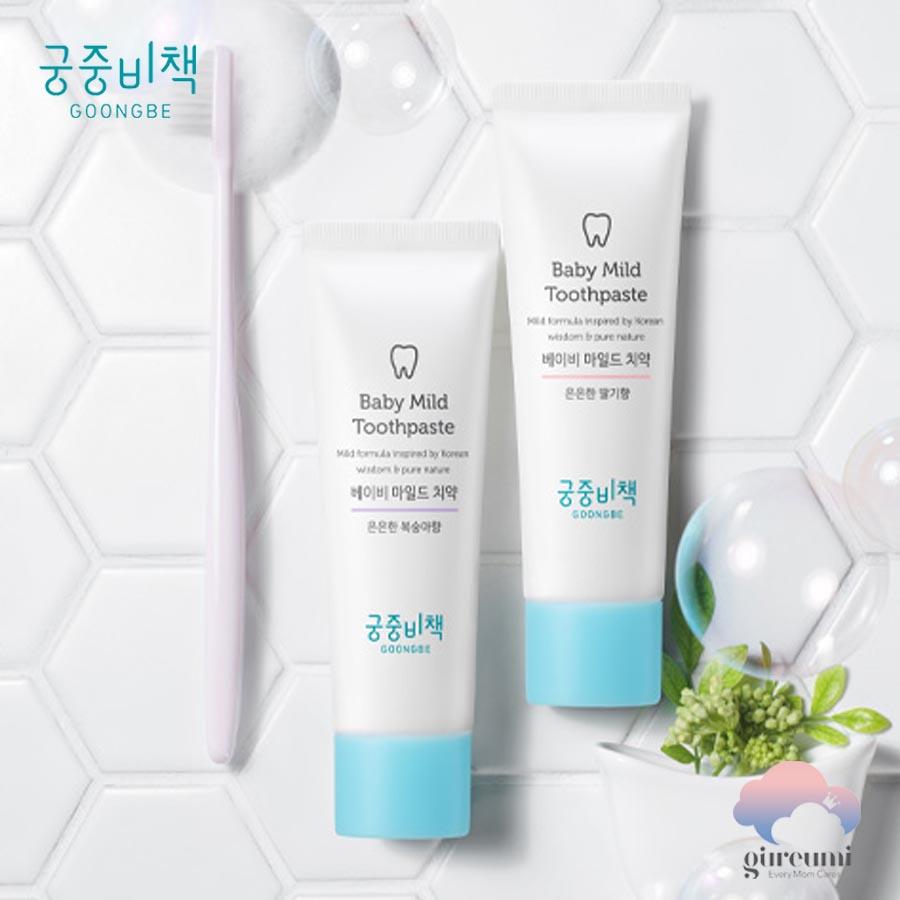 Kem đánh răng không cay cho bé Hàn Quốc Goongbe 60g