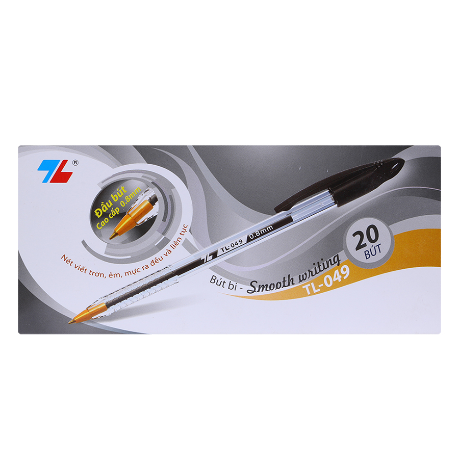 Hộp 20 Bút Bi Thiên Long TL-049- Đen