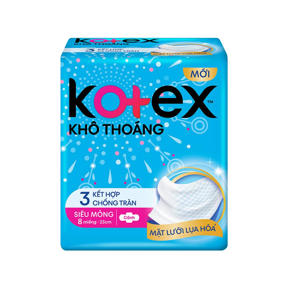 Combo 6 bvs Kotex Style khô thoáng 8 miếng