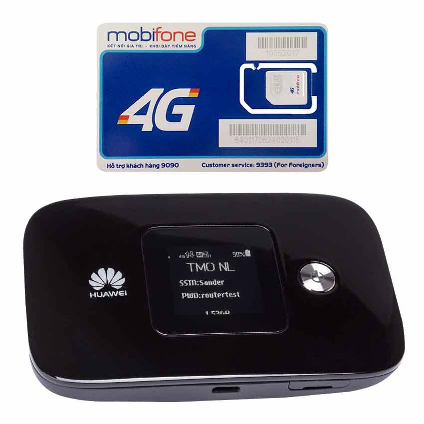Huawei E5786 | Thiết bị phát wifi 3G/4G tốc độ download lên đên 300 Mbps + Sim 4G Mobifone Khuyến Mãi 60GB /Tháng - Hàng nhập khẩu