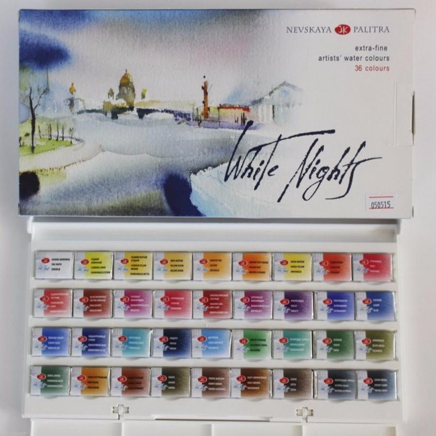 Màu Nước Nén White Nights 36 màu (Nevskaya Palitra)