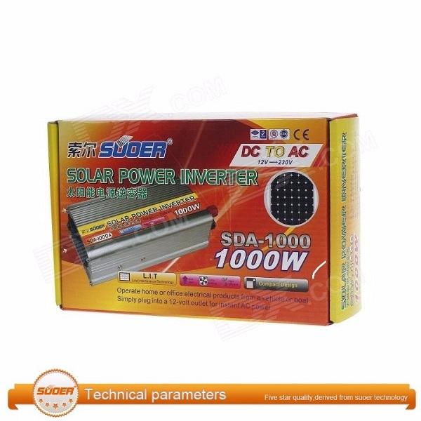 Bộ kích điện 12v lên 220v 1000w SUOER SDA-1000A - Hàng nhập khẩu