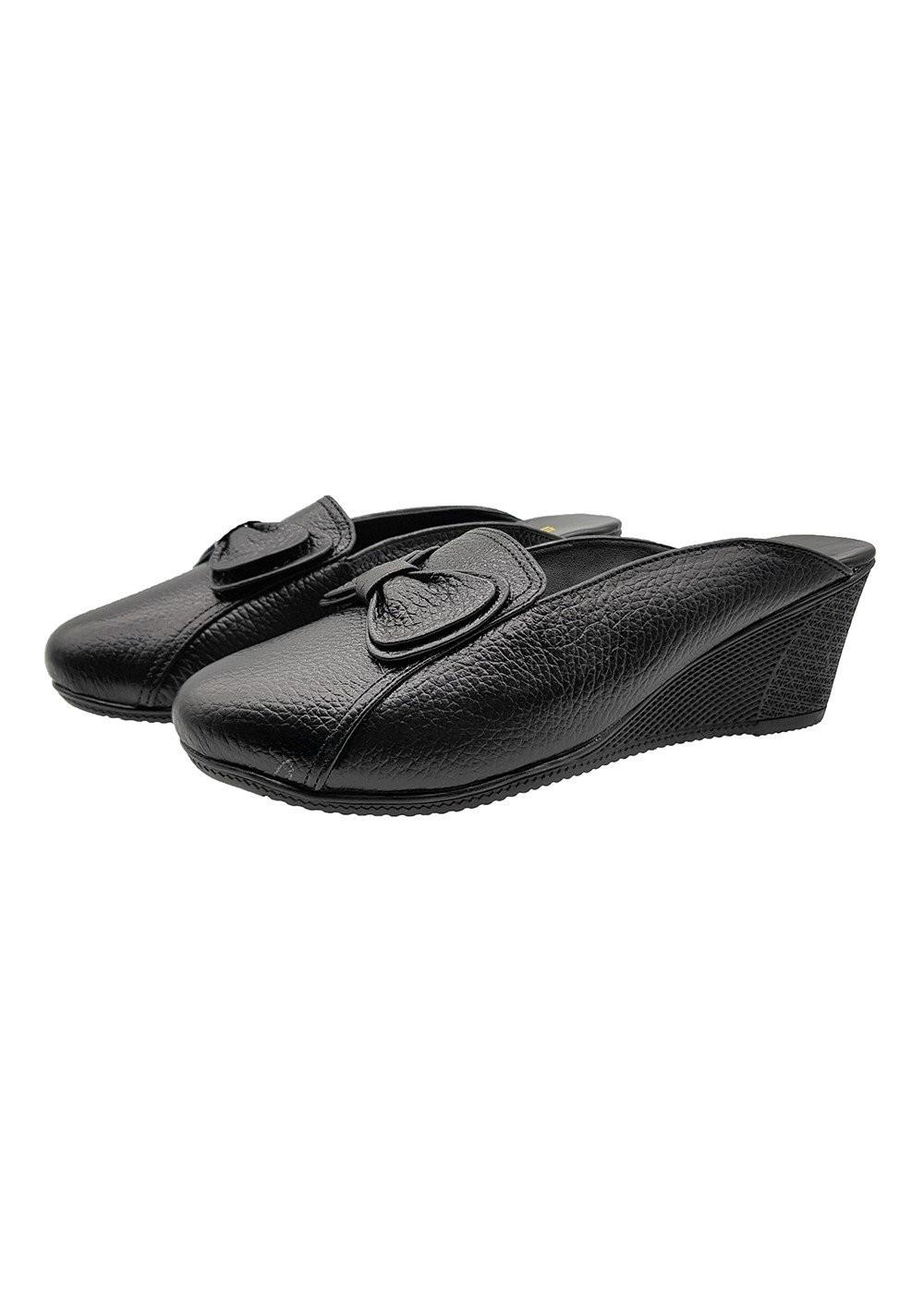 Giày Sục Nữ Đế Xuồng Cao 5cm Da Bò Thật Siêu Mềm, Đẹp Sang Trọng, Tiện Dụng 5P1816